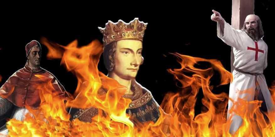 Именно в пятницу 13 октября 1307 года французский король Филипп IV казнил Тамплиеров.