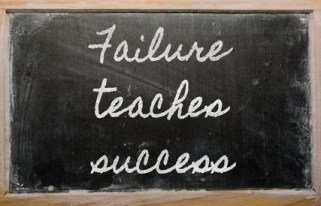 handwriting blackboard writings - Failure teaches success