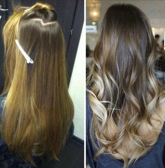 Тонирование волос после мелирования: на темные, русые ...