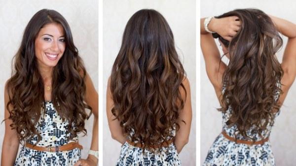 Химия на длинные волосы: виды и способы накрутки ...