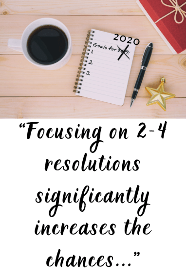 How to achieve a new years resolutions: focus on less goals!  New year goals tips.