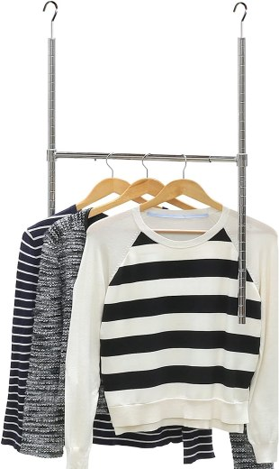 add on rod for hanging clothes in your closet