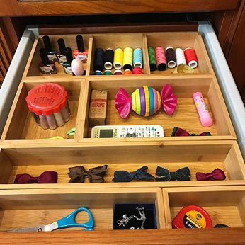 Gift for organized people: junk drawer organizer