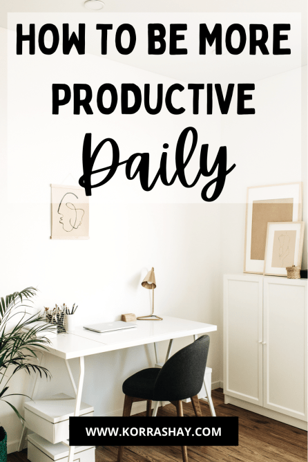5 Simple Daily Habits For Better Productivity