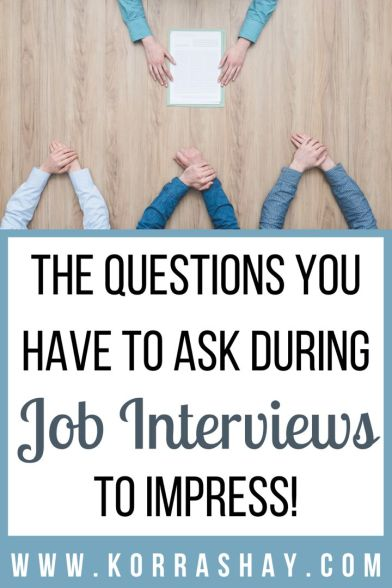 Ask these questions at job interviews to impress!
