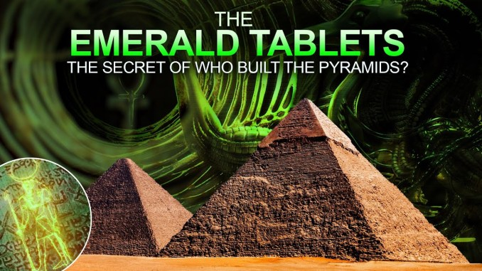 Do These Cryptic Hermetic Inscriptions Tell Us Who Built The Pyramids?