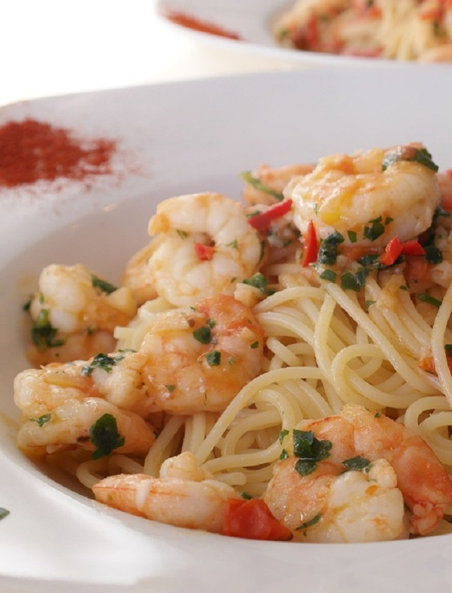 Pasta with Shrimp and Lemon