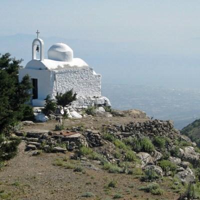 La chapelle du Christ au sommet du mont Dikeos