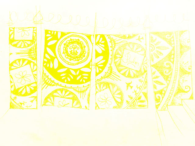 mural proposal in yellow
