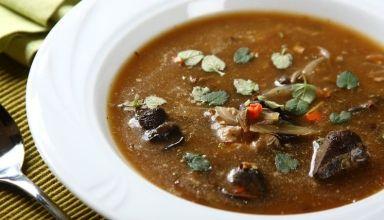 Zupa grzybowa z suszonych grzybów 2