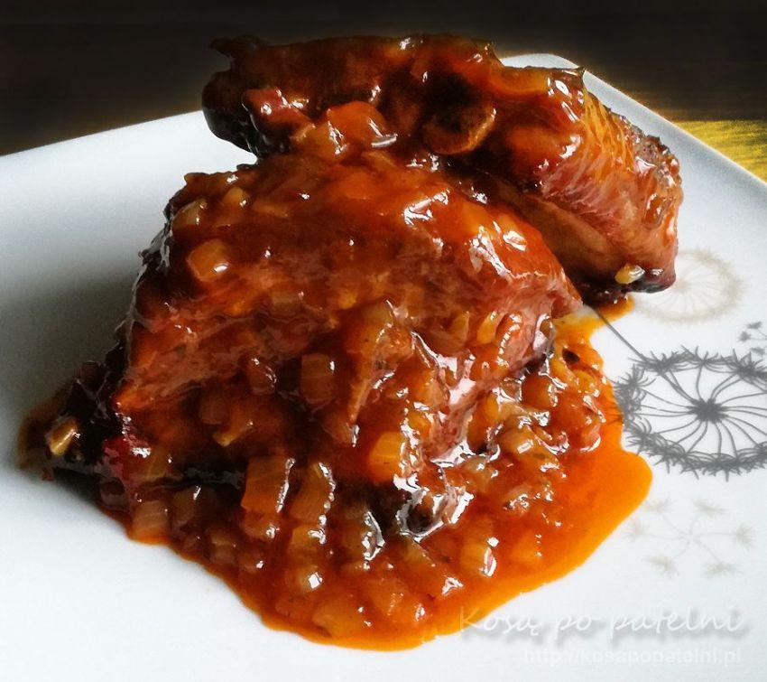 Żeberka w ketchupie z miodem
