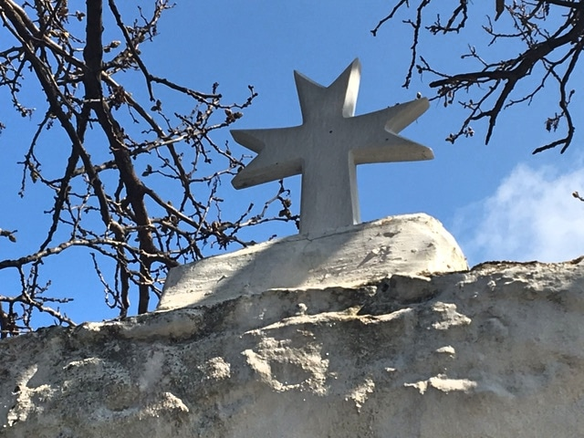 Kirchenkreuz Wanderung Asomatos