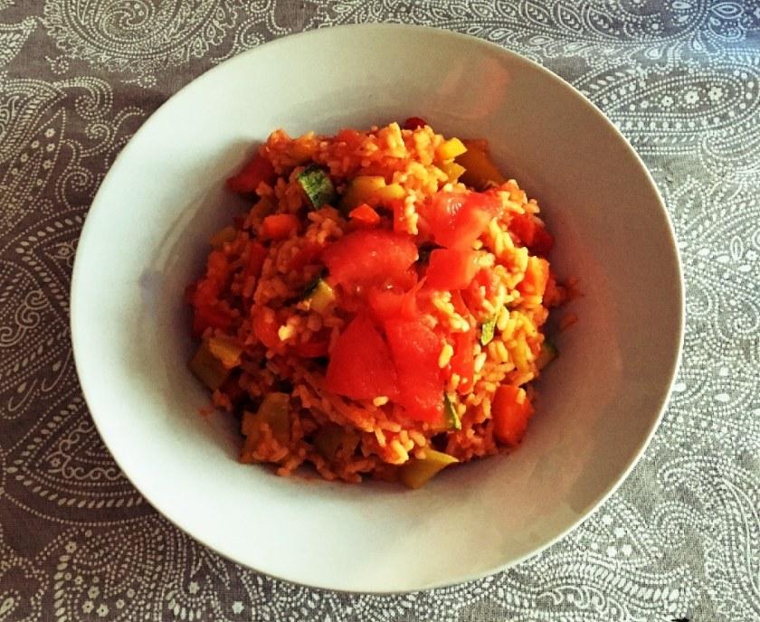 tomatenreis , veganes griechisches Rezept