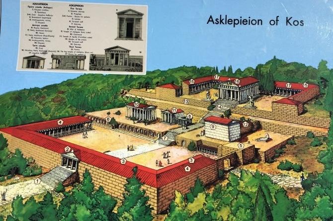 Rekunstruktion des Asklepions Plan vom Asklepion