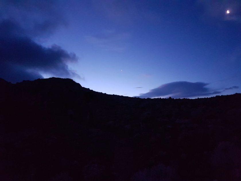 blaue stunde Aufstieg auf Dikeos Kos