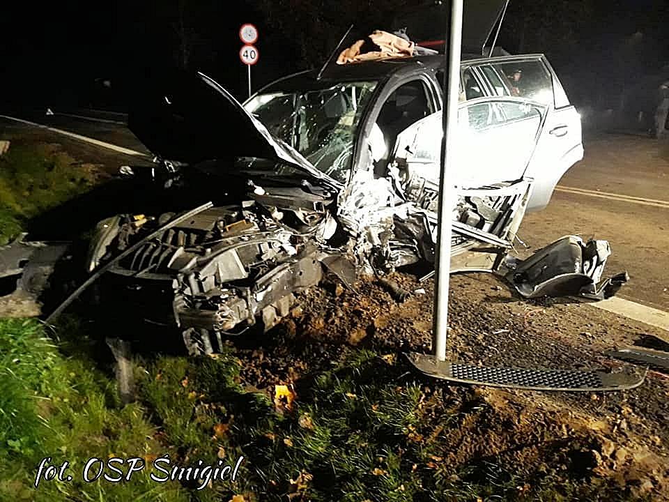 Wypadek Forda z Seatem w Podśmiglu