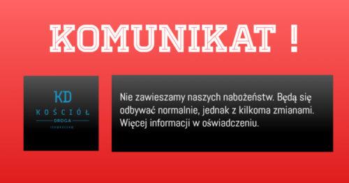 Komunikat !
