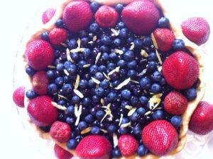 strawberry-blueberry-tart