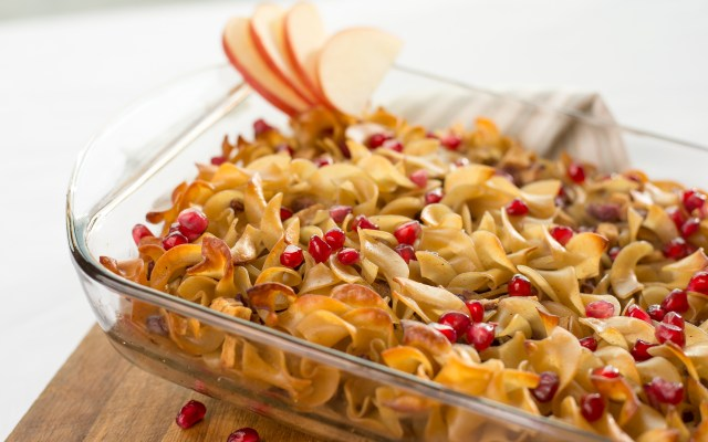 Noodle Pudding with Apples and Arils