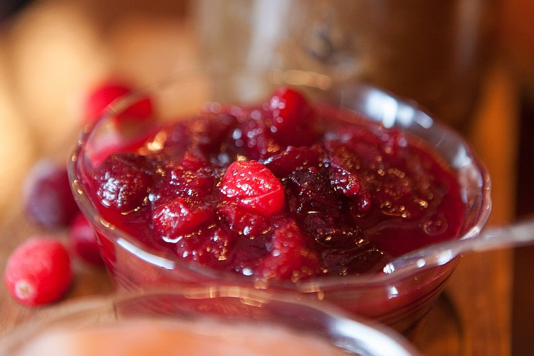 Cranberry-Pomegranate-Orange Sauce