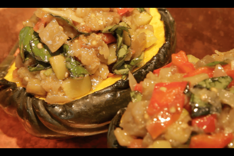 Acorn Squash Filled with Ratatouille
