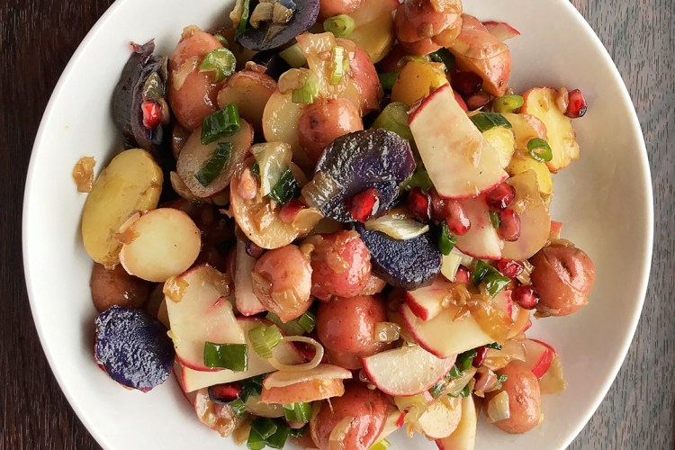 Potato Salad with Vegetables, Herbs and Pomegranate