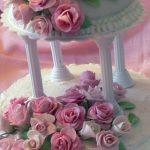 Two Tiered Flower Cake