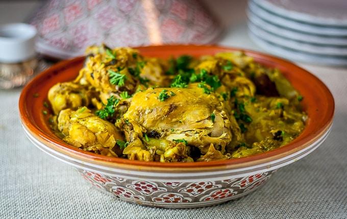 chicken parsley turmeric tagine purim