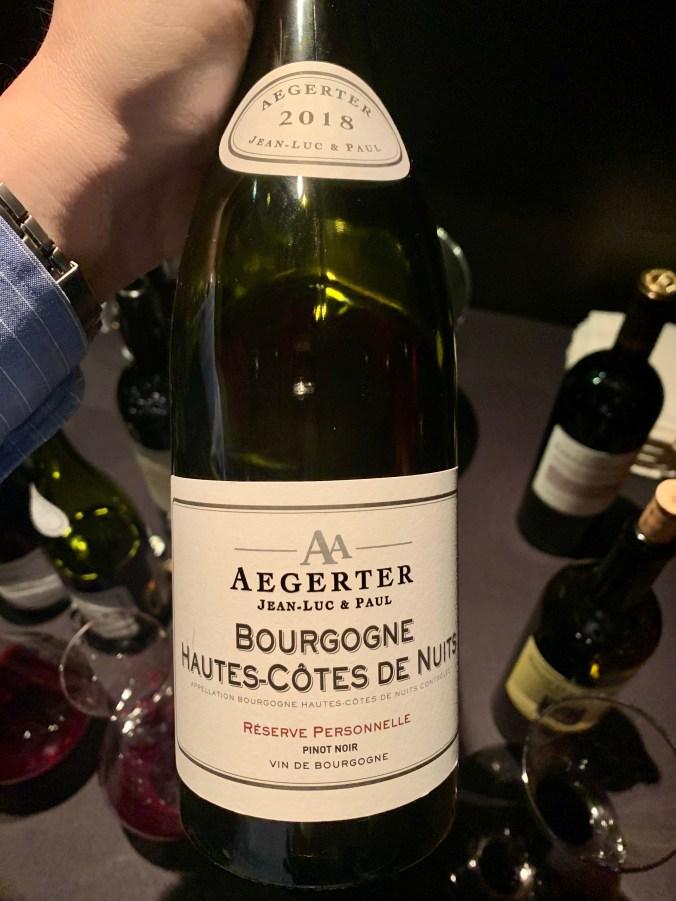 2018 Jean Luc & Paul Aegerter, Bourgogne, Hautes-Cotes de Nuits, Reserve Personnelle