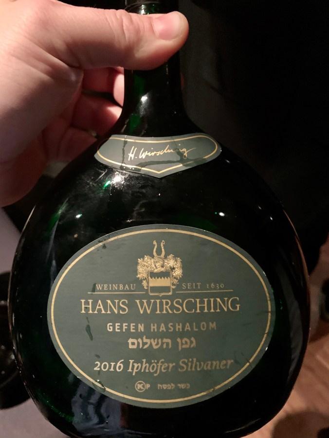2016 Gefen Hashalom , Weingut Hans Wirsching, Iphofer Silvaner
