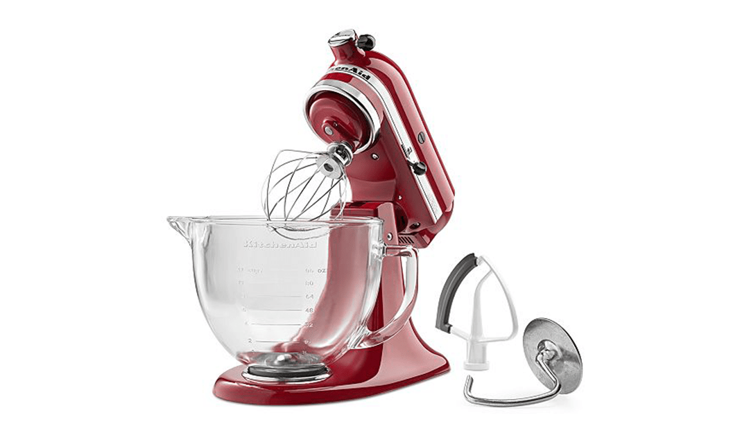 Macy's COUPON: Kitchenaid 5qt Mixer with Glass Bowl $175.49