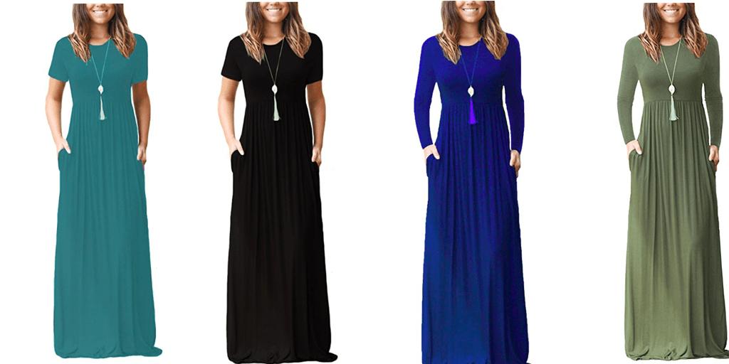 Amazon COUPON: 10% Dearcase Women's Long Sleeve Maxi Dress