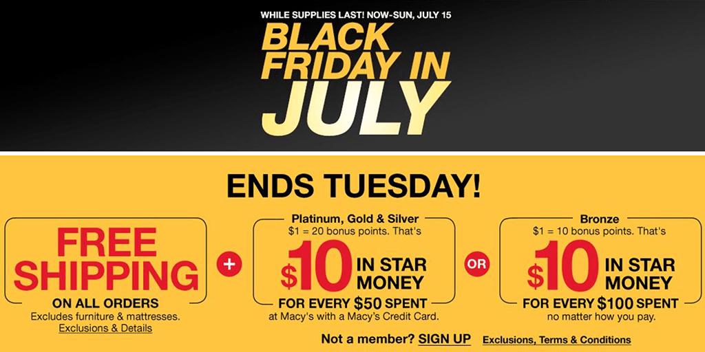 Macy's: Black Friday in July Sale