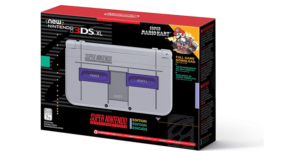 Amazon #PRIMEDAY BEST PRICE: Nintendo New 3DS XL – Super NES Edition + AC Adapter Bundle