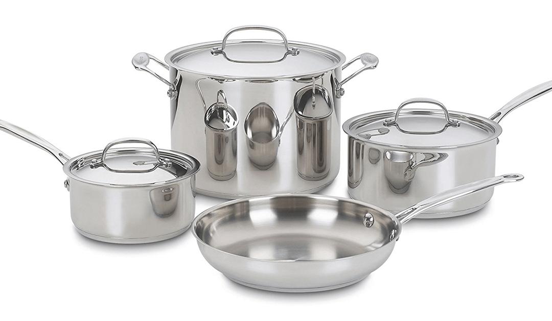 Amazon | BEST PRICE: Cuisinart 7-piece Cookware Set