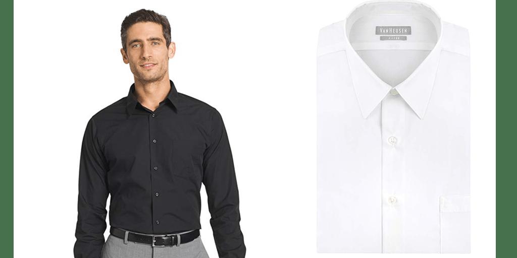 Amazon | BEST PRICE: Men's Dress Shirts in White & Black