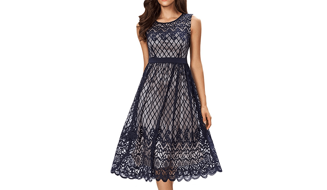 Amazon | BEST PRICE + COUPON: Sleeveless Midi Tea Dress