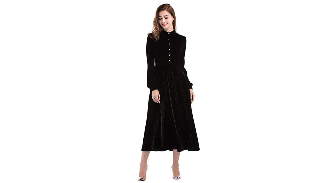 Amazon | BEST PRICE + COUPON: Peter Pan Collar Velvet Dress