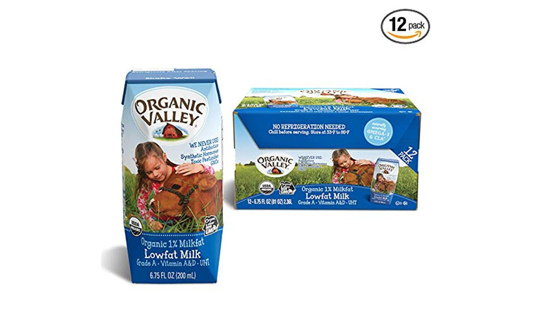 Amazon | BEST PRICE: Organic Valley Boxed Milk