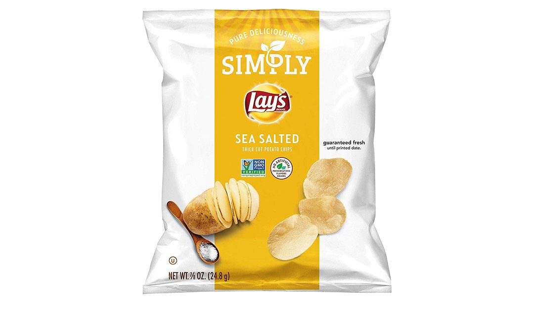 Amazon | BEST PRICE: Simply Lay's Sea Salted Thick Cut Potato Chips (36 Pack)