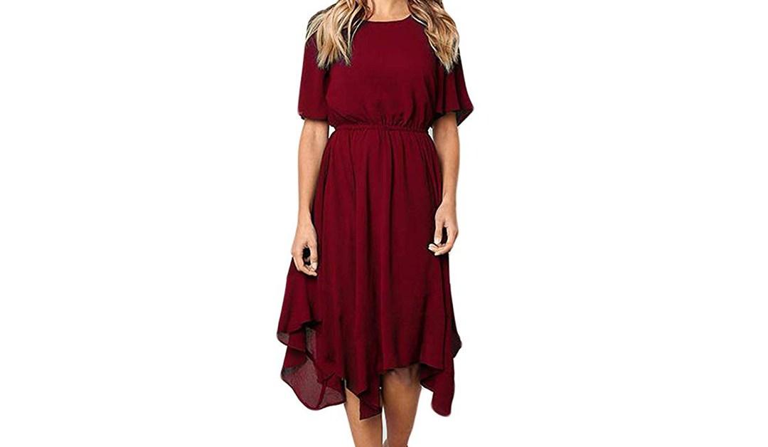 Amazon   BEST PRICE + COUPON: Bolomi Handkerchief Dress
