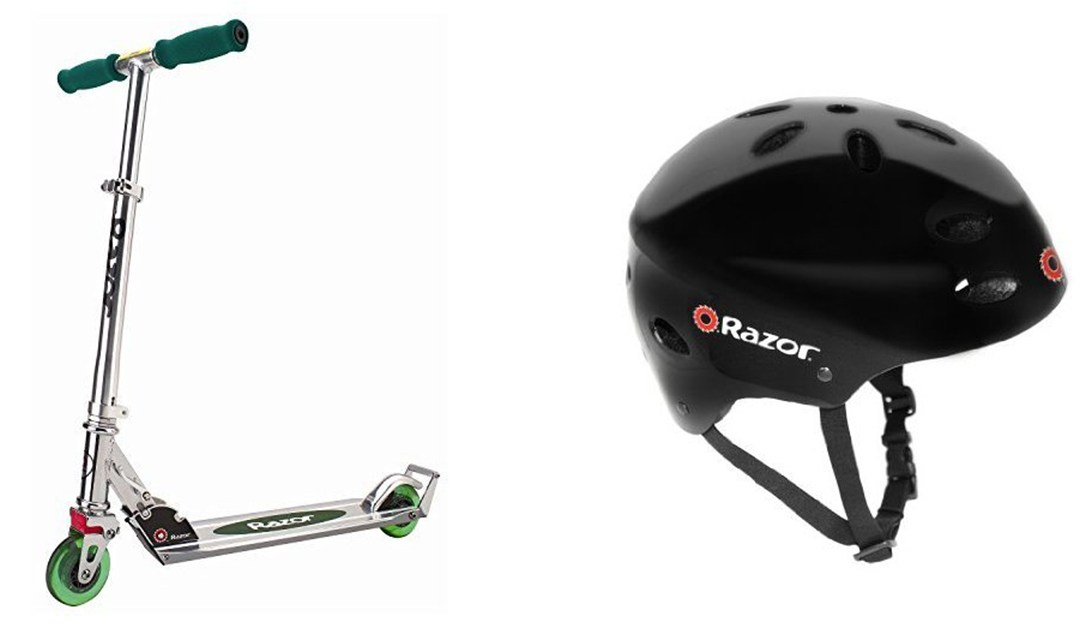 Amazon | BEST PRICE: Razor Scooter + Helmet