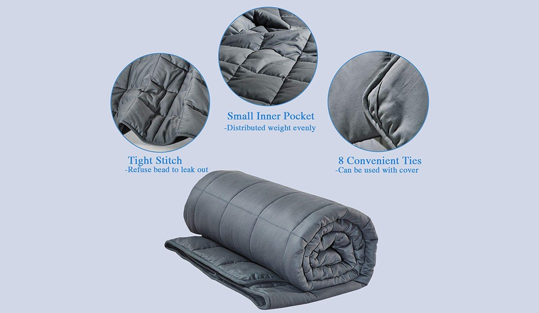 Amazon | BEST PRICE + 50% OFF COUPON: 15lb Weighted Adult Blanket, Twin