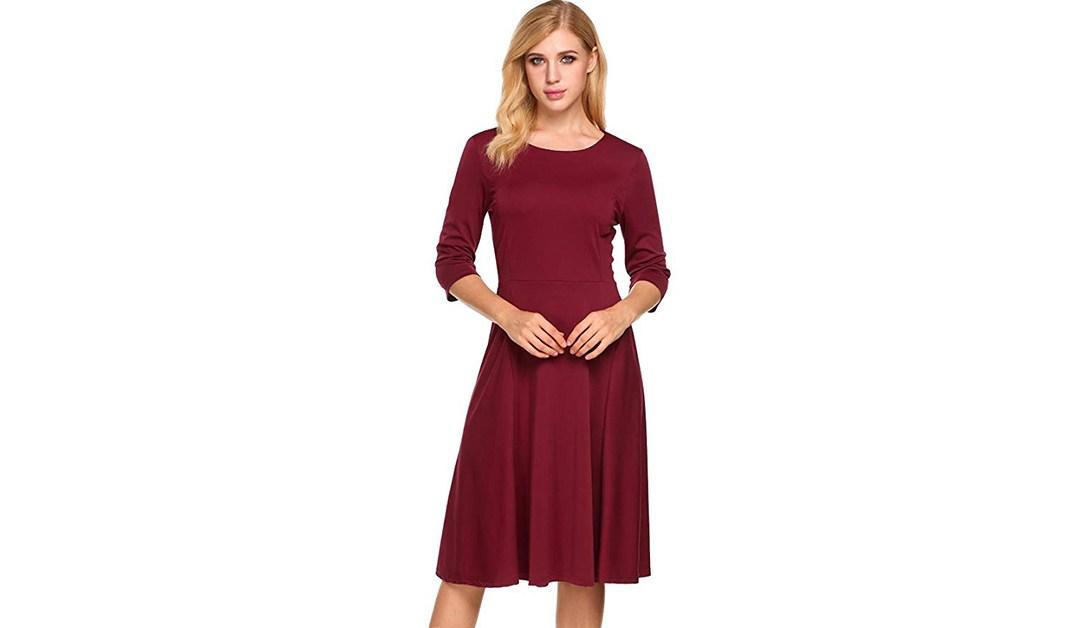 Amazon | BEST PRICE + COUPON: Hot Touch Midi Dress