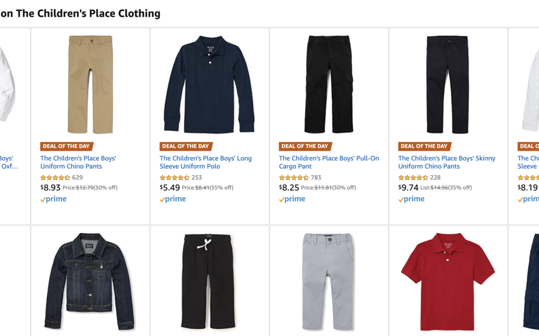 Amazon | DEAL OF THE DAY: Children's Place Clothing