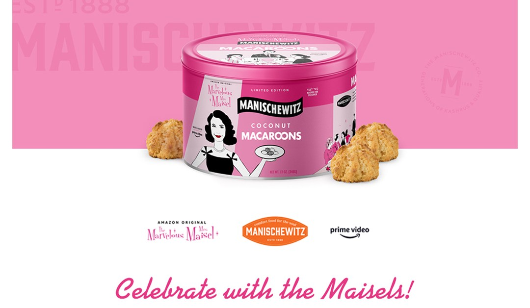 "Amazon | BEST PRICE: The Marvelous Mrs. Maisel ""Limited Edition"" Manischewitz Coconut Macaroons, 12oz Collectors Tin Canister, Kosher For Passover"