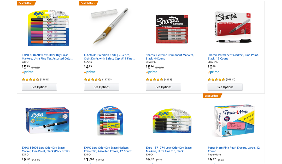 Amazon | #PRIMEDAY2020: $10 off $25 of School, Craft, and Organization Supplies