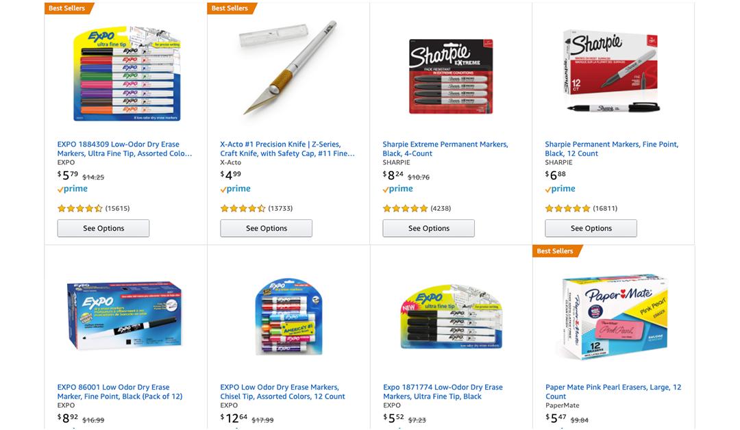 Amazon | #PRIMEDAY2020: $10 off $25 of School, Craft, and Organization Supplies