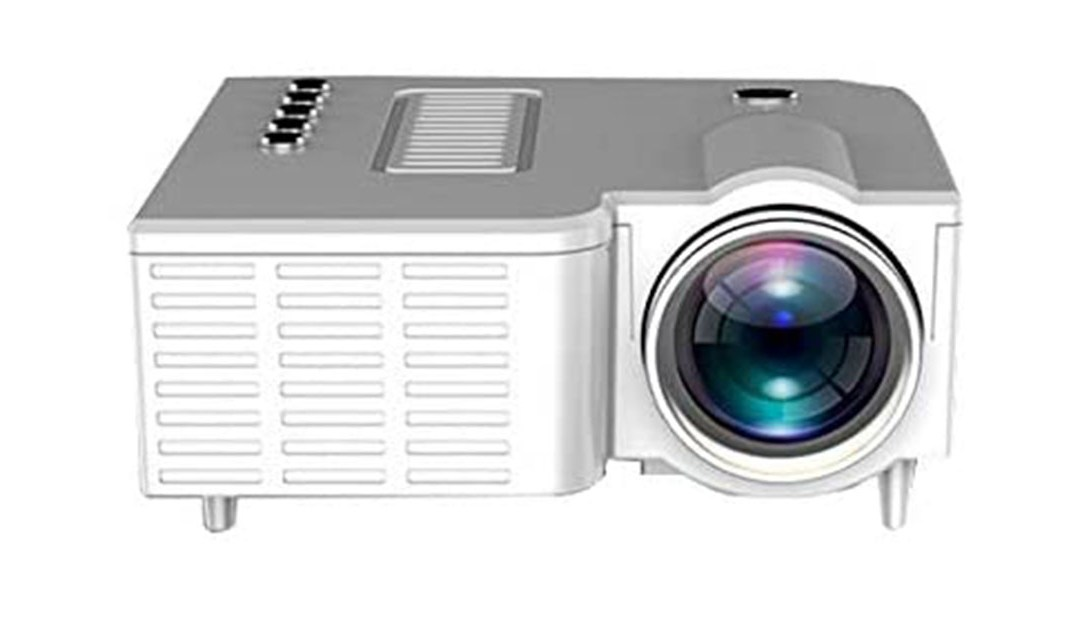 Amazon   BEST PRICE + 80% off COUPON: Mini Projector Full HD 1080P Supported, Home Theater Outdoor Movie Projector, Compatible with TV Stick, PS4, HDMI, VGA, AV and USB (White)