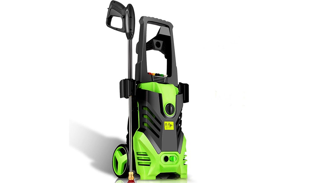 Amazon | BEST PRICE: Homdox Electric High Pressure Washer 2950PSI 1.7GPM Max Power Pressure Washer Machine 1800W with Power Hose Gun Turbo Wand, 5 Quick-Connect Spray Tips and Rolling Wheels